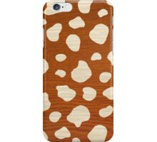 Wooden white spots iPhone Case/Skin
