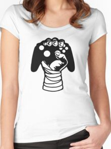 Gamer Hand Women's Fitted Scoop T-Shirt