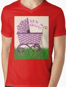 Baby Pram - It's a Girl! Mens V-Neck T-Shirt