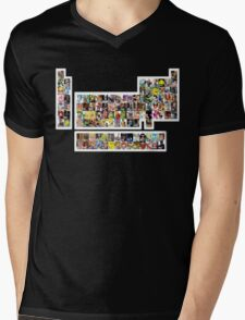 Game Characters Periodic Table Mens V-Neck T-Shirt