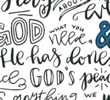 Philippians 4:6-7 NLT : Design 3 Sticker