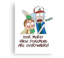 Rick and Morty GO Canvas Print