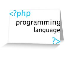 Php Web Programming Stickers Greeting Card