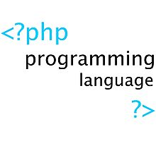 Php Web Programming Stickers Photographic Print