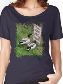 Ducks with a Problem Women's Relaxed Fit T-Shirt