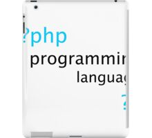 Php Web Programming Stickers iPad Case/Skin