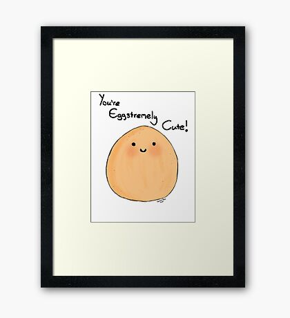 Adorable Egg Framed Print