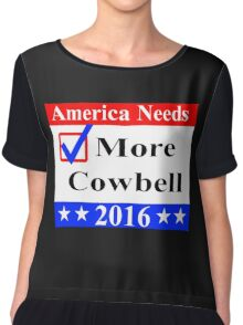 America Needs More Cowbell 2016 Chiffon Top