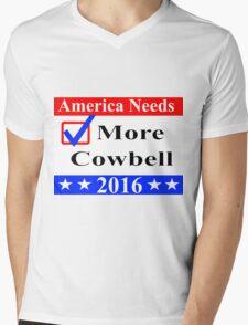 America Needs More Cowbell 2016 Mens V-Neck T-Shirt