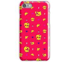 Pika Technicolor Poke-Pattern iPhone Case/Skin