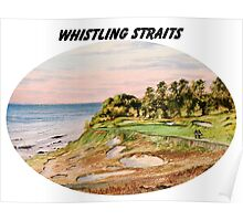 Whistling Straits Golf Course With Banner Poster