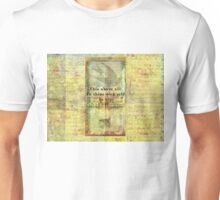 Shakespeare Quote from Hamlet Unisex T-Shirt
