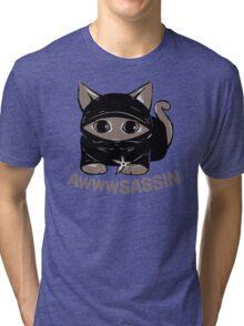 Awwwsassin Meowninja Tri-blend T-Shirt