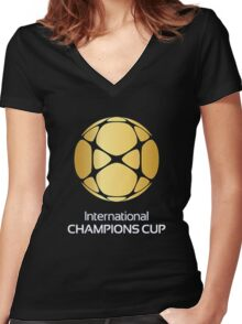 International Champions Cup Best Logo 2016 Women's Fitted V-Neck T-Shirt
