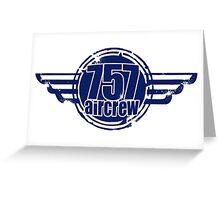 757 Aircrew Greeting Card