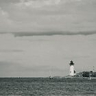 Lighthouse at Wingaersheek, Gloucester, MA by Rebecca Bryson