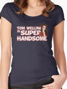 Tom Welling Is Super Handsome Women's Fitted Scoop T-Shirt