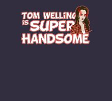 Tom Welling Is Super Handsome Women's Fitted V-Neck T-Shirt