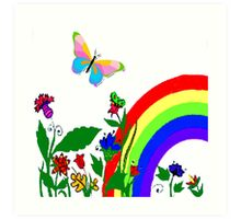 I Love Rainbows Art Print
