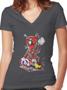 deadpool Women's Fitted V-Neck T-Shirt