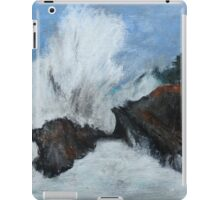 "Oregon Coast, West Coast Waves America Acrylic Painting On 11"" x 14"" Canvas Board iPad Case/Skin"