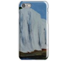 English Countryside White Chalk Cliffs South Coast Contemporary Acrylic Paintng iPhone Case/Skin