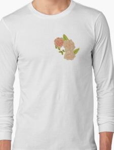 floral pink and green  Long Sleeve T-Shirt