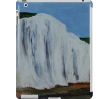 English Countryside White Chalk Cliffs South Coast Contemporary Acrylic Paintng iPad Case/Skin