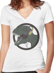 T-Rex Women's Fitted V-Neck T-Shirt