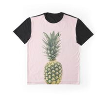 Gold Pineapple with Pink Background Graphic T-Shirt