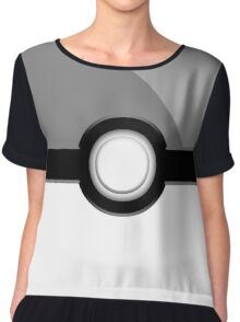 Poke´ Ball - Gray Chiffon Top