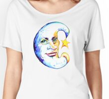 Half Moon Cratered ButtChin with Star Women's Relaxed Fit T-Shirt
