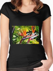 Bird of Paradise Women's Fitted Scoop T-Shirt