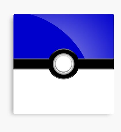 Poke´ Ball - Blue Canvas Print
