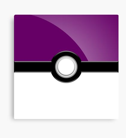 Poke´ Ball - Purple Canvas Print