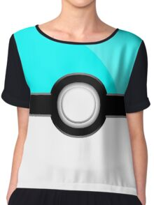 Poke´ Ball - Aqua Chiffon Top