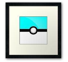 Poke´ Ball - Aqua Framed Print