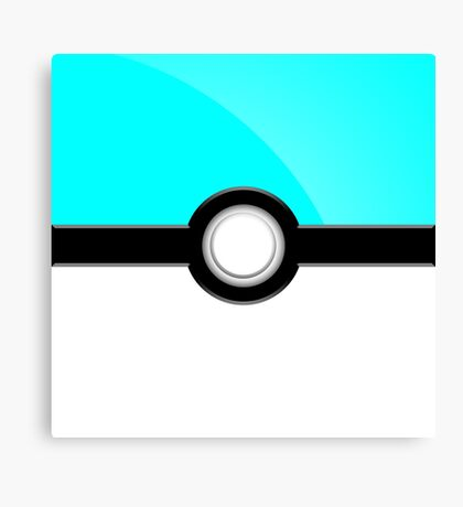 Poke´ Ball - Aqua Canvas Print