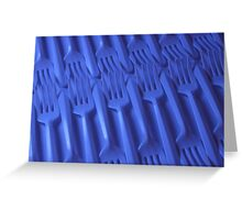 Plastic fork blues- ISO 100 Greeting Card