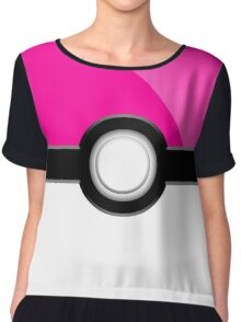 Poke´ Ball - Pink Chiffon Top