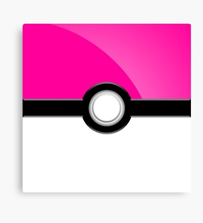 Poke´ Ball - Pink Canvas Print