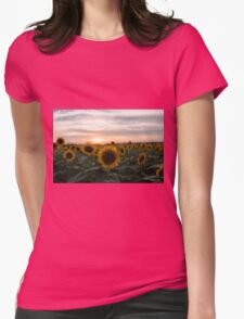 Sunflower and sunset Womens Fitted T-Shirt