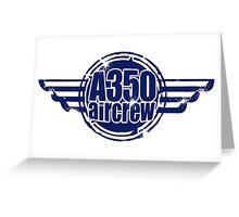 A350 Aircrew Greeting Card