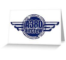 A380 Aircrew Greeting Card