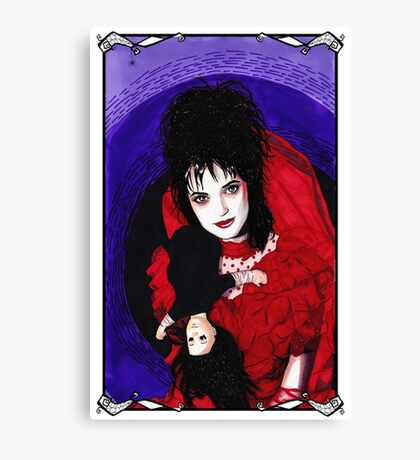 Lydia Deetz - Framed Canvas Print
