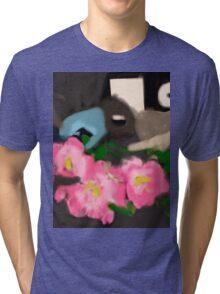 Mask Drawing 2 Tri-blend T-Shirt