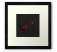 Fearless in Red Framed Print