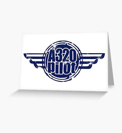 A320 Pilot Greeting Card