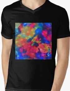 Color Happy Mens V-Neck T-Shirt