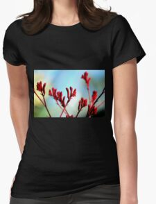 Red bloom Womens Fitted T-Shirt